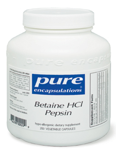 Betaine HCl w Pepsin 250 vcaps