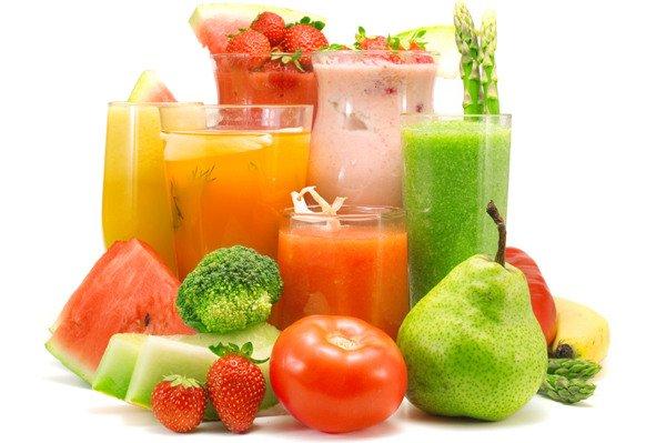 detox shakes and veggies